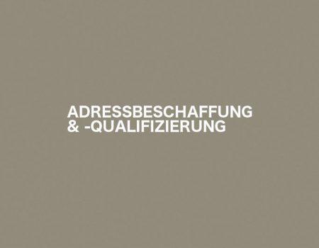 ADRESSBESCHAFFUNG